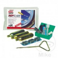 Complete tire sets for repair and tire filling on the road.